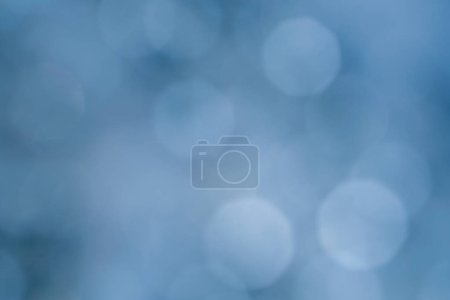 Photo for Abstract lens flare background. blue defocused bokeh lights. glowing blurred color burst. festive snowy christmas backdrop. - Royalty Free Image