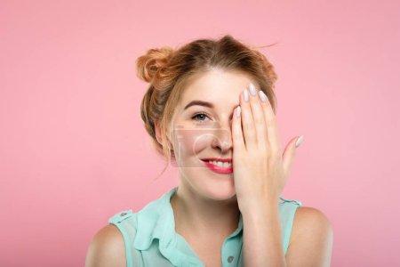 contrôle de la vue couverture de la femme vision oculaire soins de santé