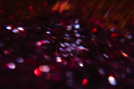 Photo for Abstract lens flare. defocused lights. glowing blur glow burst. festive new year backdrop. - Royalty Free Image