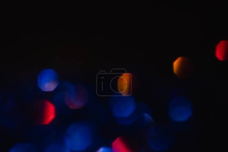Photo for Abstract lens flare background. illuminated glowing colorful circles design. defocused bokeh lights. - Royalty Free Image