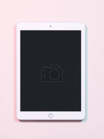 Photo for Kharkiv, Ukraine - December 5, 2018: Apple IPad. Tablet computer with black screen. Mobile devices technology - Royalty Free Image