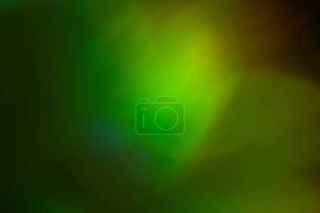 Photo for Blurred green and yellow lights. Bokeh abstract background with lens flare glow effect. - Royalty Free Image