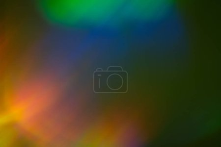 Photo for Polar glow. Night faded sky lights. Bokeh color background. Nordic lens flare concept. - Royalty Free Image