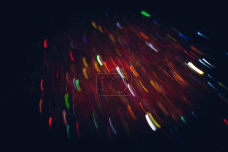 Photo for Blur night city lights. Neon multicolor smeared glowing lines. Dark abstract background. - Royalty Free Image