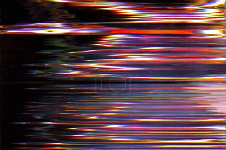Photo for Distorted display. User interface breakdown. Dark static vibration pattern layer. - Royalty Free Image