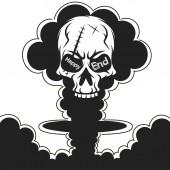 Atomic explosion vector clip art