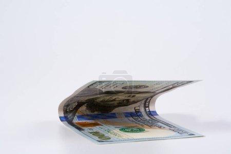 Photo pour Un dollar. modèle de billet en dollar, concept et idée de la valeur du temps et de l'argent, concepts d'affaires immobilières et de finance. vert rétro . - image libre de droit