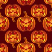 Seamless pattern with pumkins on background for halloween