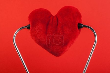 Photo for Red heart and a stethoscope - Royalty Free Image