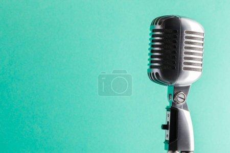 audio microphone retro style, close up