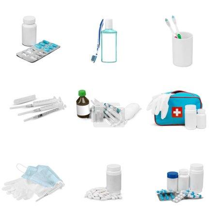 Foto de Objetos médicos aislados sobre fondo blanco - Imagen libre de derechos