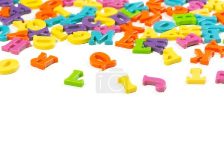 colorful toy alphabet letters