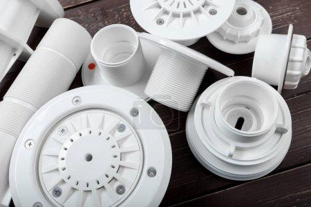 Sanitary equipment, detail view.