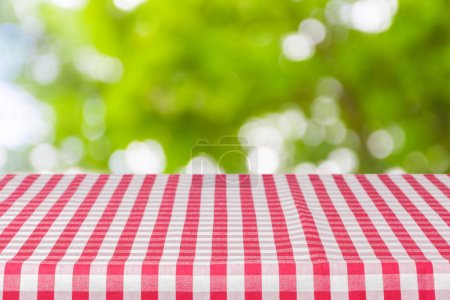 colorful tablecloth texture as background