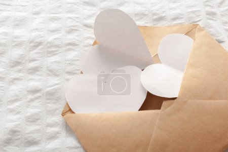 Love Letter with heart on white background