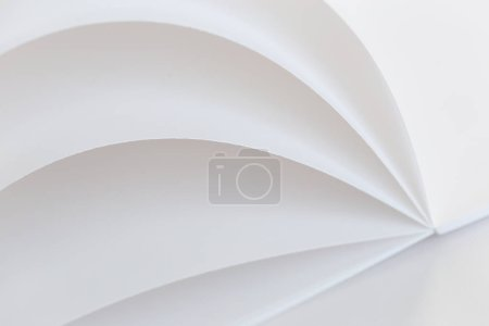 Close view of white paper sheets