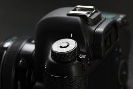 Detail view of digital SLR camera