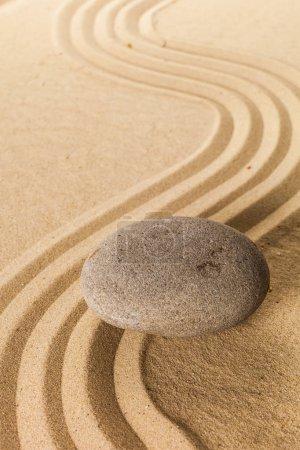 Photo pour Fond Pierre de jardin de méditation Zen - image libre de droit