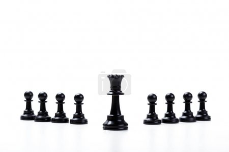 Chess game or chess pieces isolated on white background