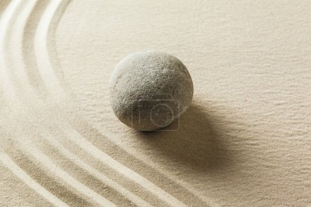 Garden Zen stone on sand