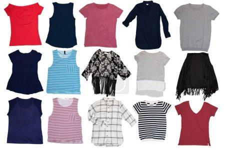 Photo pour Collage de différents vêtements féminins - image libre de droit