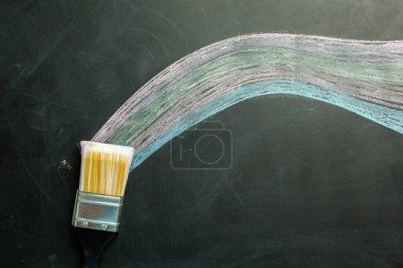dark chalkboard colorful background