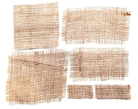 Sackcloth materials isolated on white background