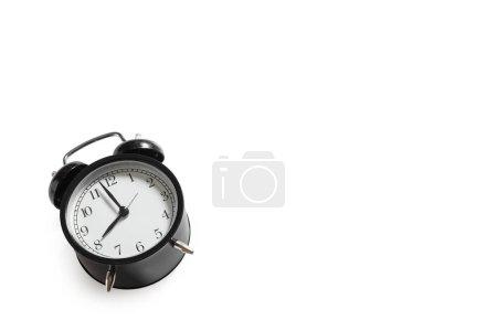 vintage alarm clock isolated on white background