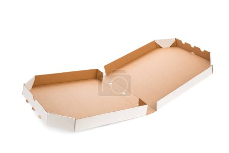 Photo for Pizza box isolated on the white background - Royalty Free Image