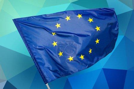 Photo for EU flag, euro flag, flag of european union waving - Royalty Free Image