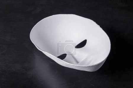 white mask , close up view