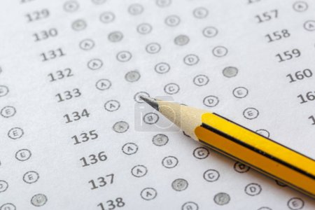 Photo for Test score sheet with answers - Royalty Free Image
