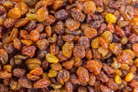 close-up view of dry Raisins background