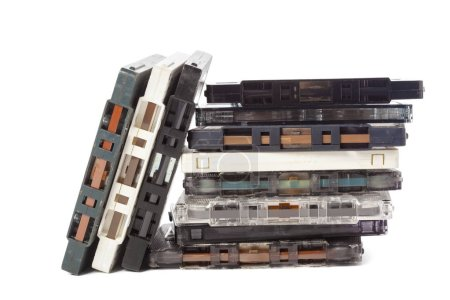 music audio tapes, close-up view