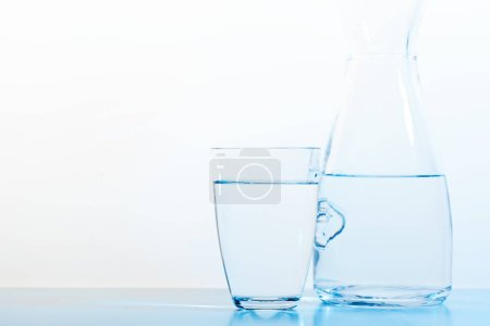 water glass and jug, close-up view