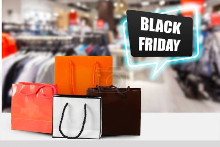 Black Friday Sale Background Template. Colorful Shopping Banner