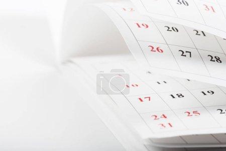 Photo pour Calendrier pages fermer concept de temps d'affaires - image libre de droit