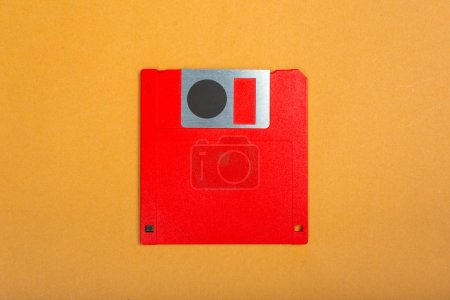 Computer floppy disk, close up view