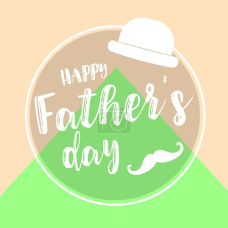 colorful card for happy fathers day