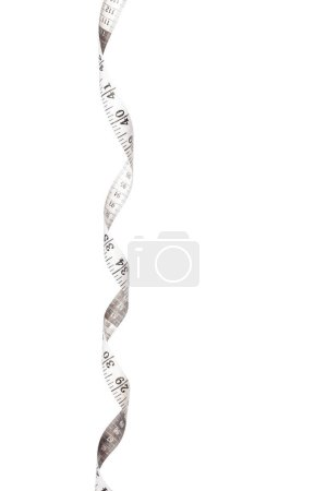 Measure tape isolated on white background