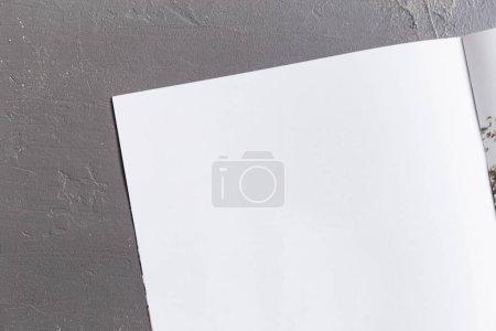 Magazine Mock up on grey background