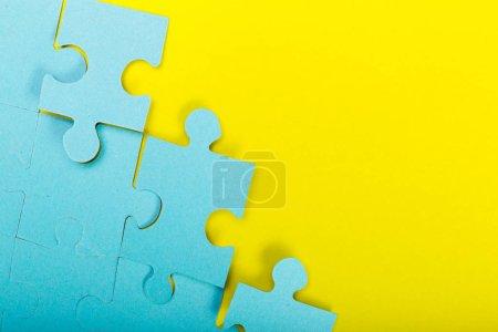 Puzzle concept teamwork background