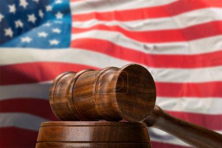 Photo pour Système législatif américain et concept de justice - image libre de droit