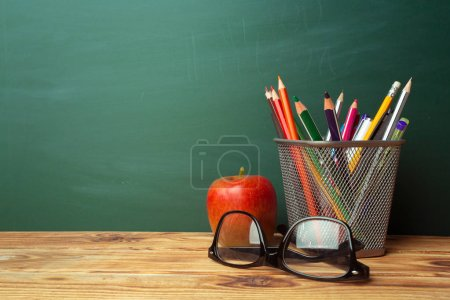 Photo for Back to school concept, school supplies - Royalty Free Image