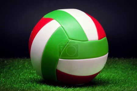 Photo for Volleyball ball on grass - Royalty Free Image