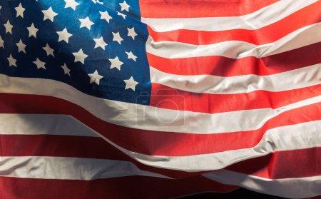 Photo pour Gros plan de drapeau américain ébouriffé - image libre de droit