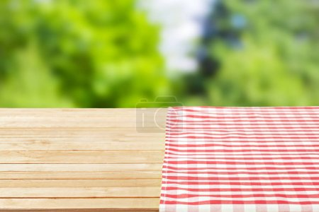 colorful textured tablecloth as background
