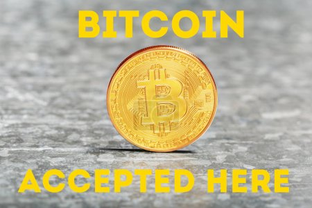 Golden Bitcoin, cryptocurrency concept