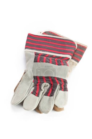 Pair of gloves isolated on white background