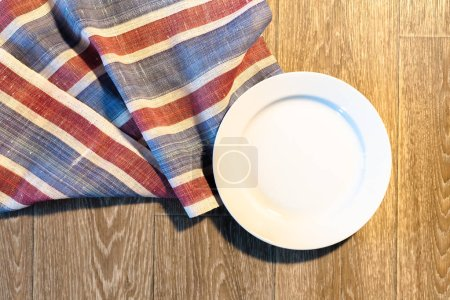 White Plate on a Tablecloth...